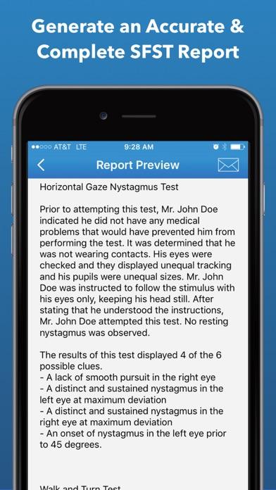 SFST Report - DUI Note Taking Screenshot
