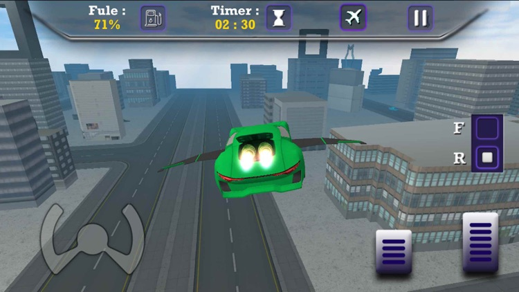 Flying Sports Car Driving Sim-Ulator Game screenshot-4