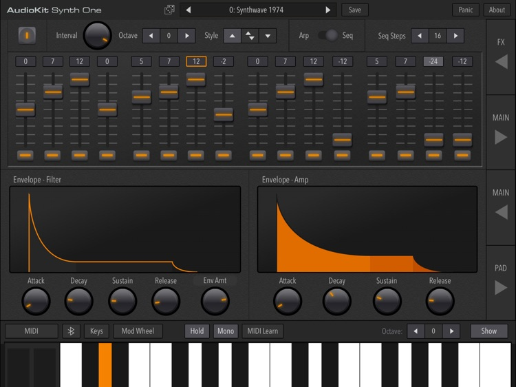AudioKit Synth One Synthesizer screenshot-4