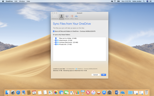 OneDrive Screenshot