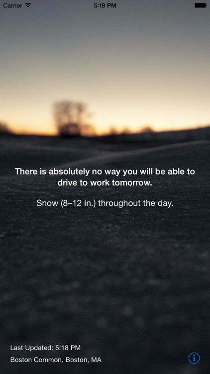 Snow Day - Can I Drive to Work