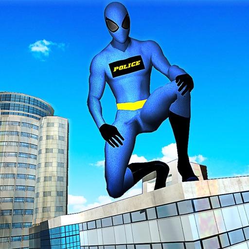 Полиция-герой-паук-Летающий супергерой