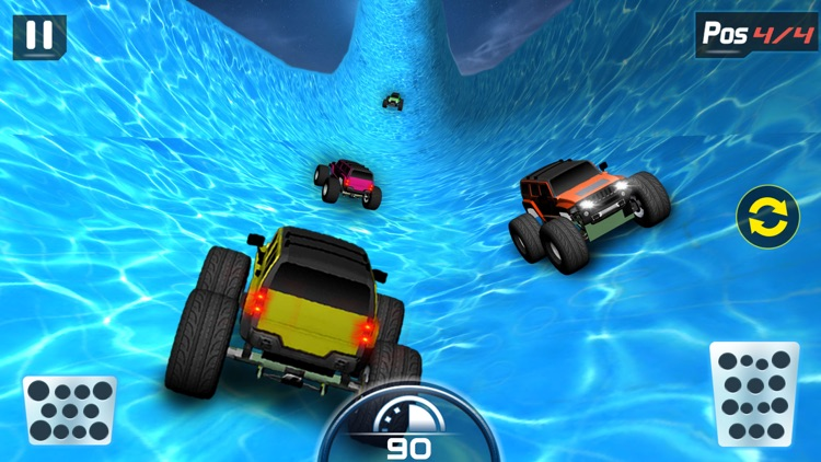 Water Slide Monster Truck driving screenshot-3