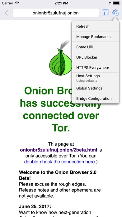 Onion Browser Screenshots