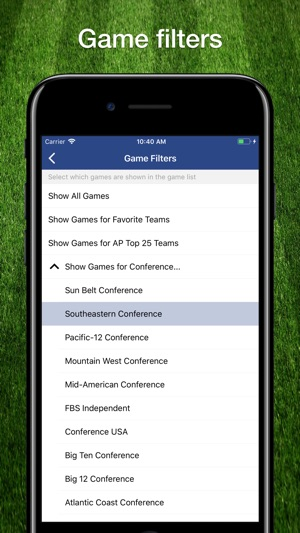 College Football Schedule Ncaa On The App Store