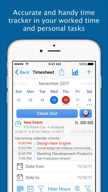 Hours, Time Tracker, Expense