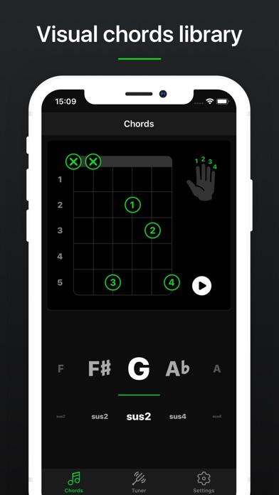 Guitar Tuner Pro, Bass,Ukulele screenshot 4