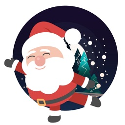 Santa emoji animated sticker