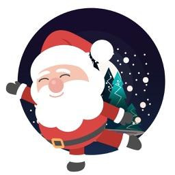Santa emoji animated sticker