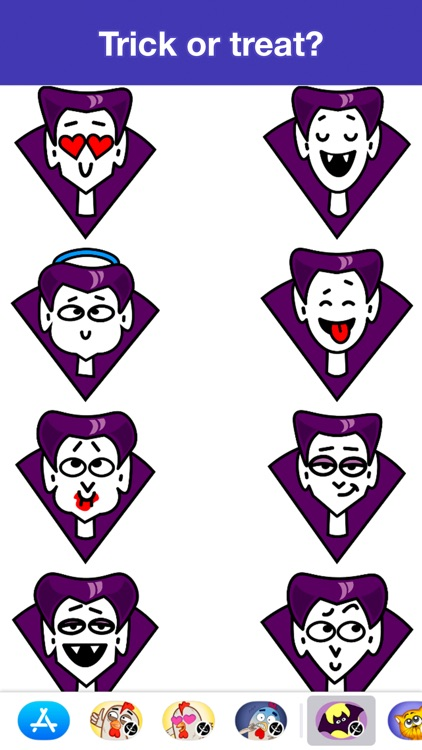Dracula - Halloween stickers