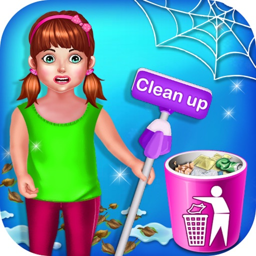 Baby Girl Home Cleaning icon