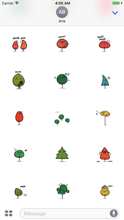 Animated Cute Bear - Stick Man - Tree Sticker screenshot-4