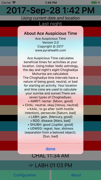 Ace Auspicious Time