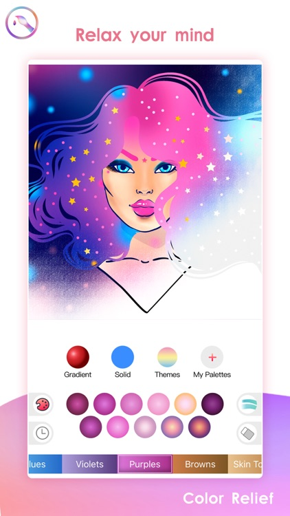 Color Relief Art Coloring Book