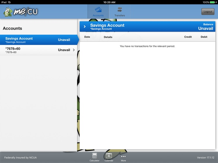 Me/CU Mobile for iPad