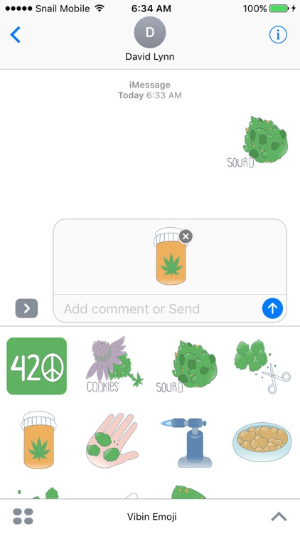 Vibin Weed Emoji Keyboard screenshot-4