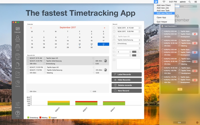 Taptile Timetracking 3 for Mac