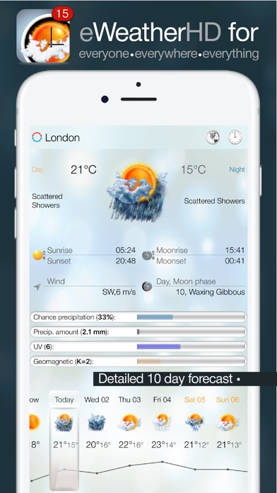 eWeather HD - Weather forecast Premium Screenshot 1