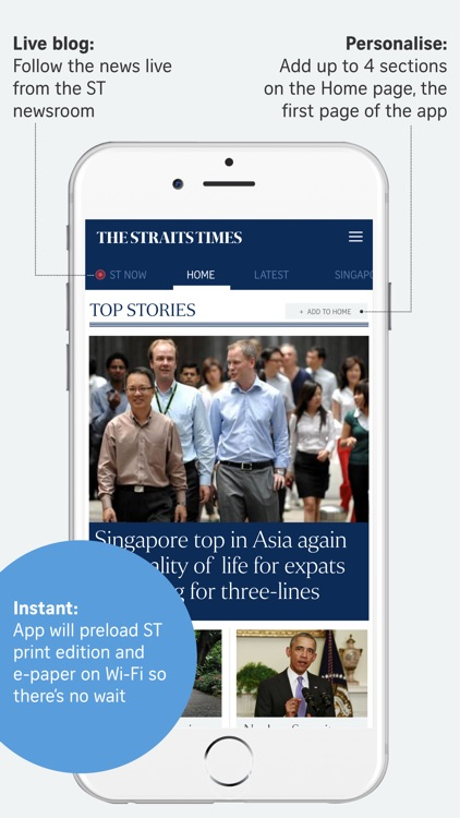 The Straits Times for iPhone