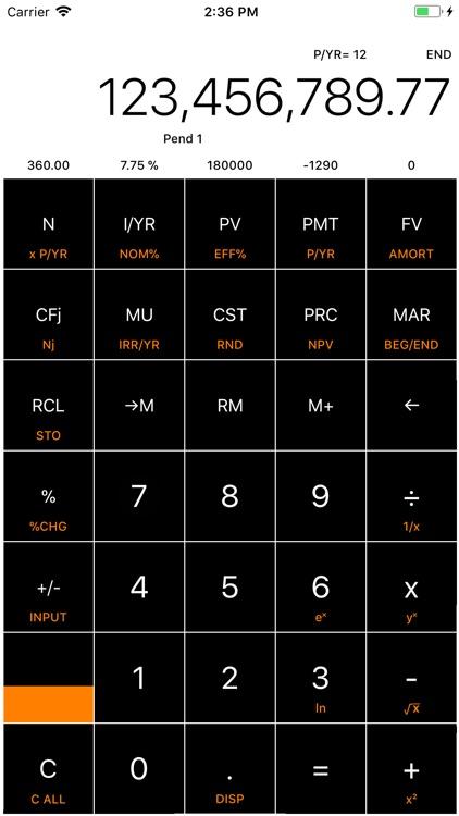 Financial Calculator NPV +