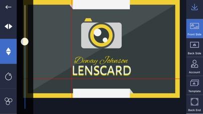 Screenshot of Lenscard App