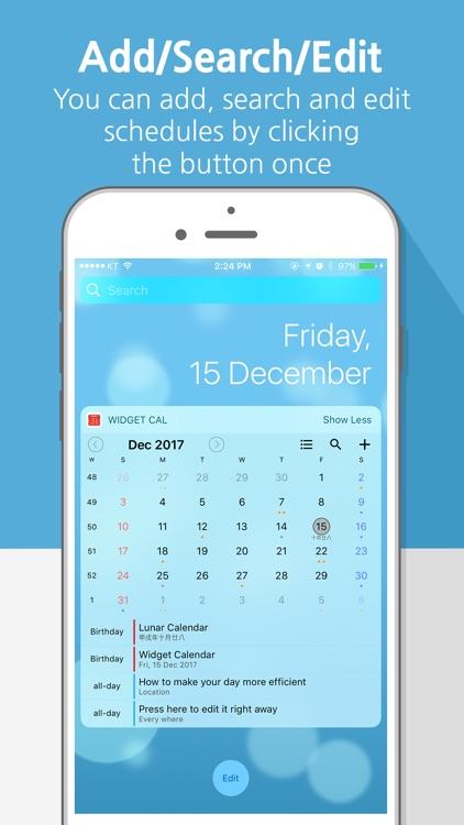 Widget Calendar : Easy&Simple screenshot-0