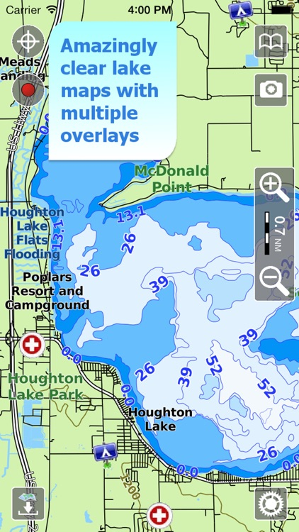 Aqua Map Michigan Lakes GPS