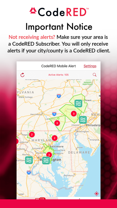 CodeRED Mobile Alert Screenshot