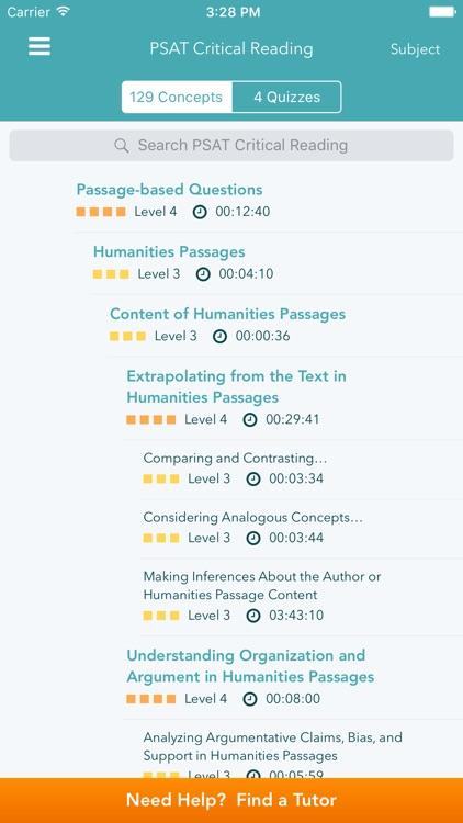PSAT Prep: Practice Tests - Math, Reading, Writing screenshot-3
