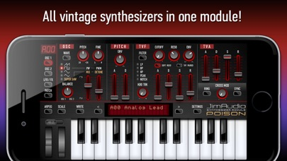 Screenshot Poison-202 Vintage Synthesizer