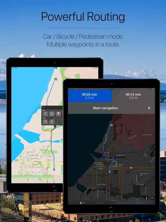 Alaska, USA Offline Navigation-ipad-2