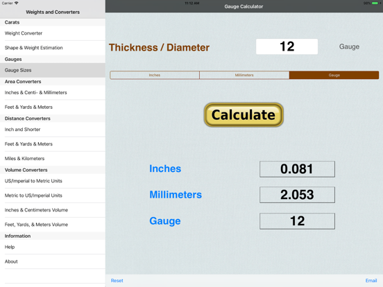 Carats: Thickness & Weight for Gems, Jewelry, Diamonds, & Gemstones screenshot