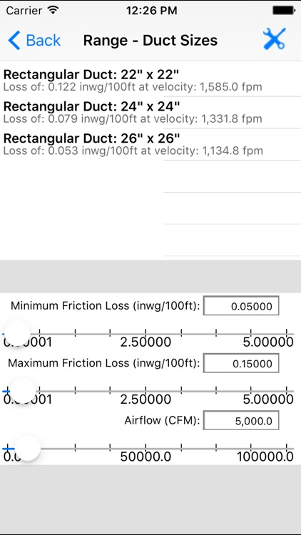ASHRAE HVAC Duct Sizer screenshot-3