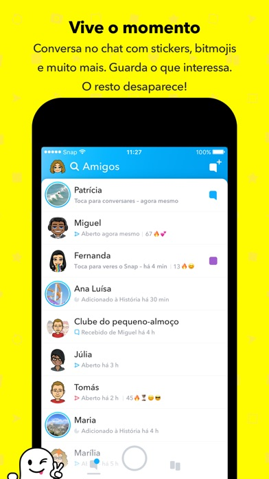 Screenshot for Snapchat in Portugal App Store