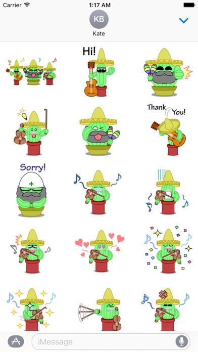 Mexico Cactus Music Band Emoji screenshot 1