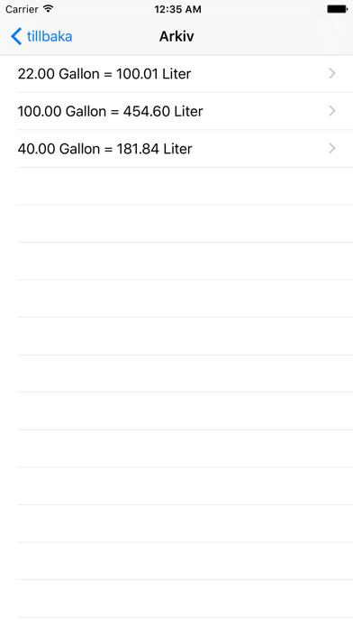 Gallon Liter på PC