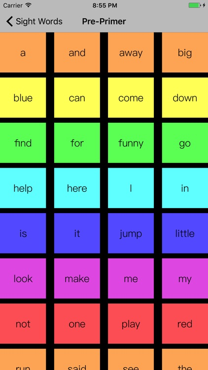 Learn Sight Words -Flash Cards