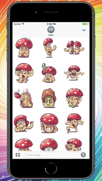 Screenshot for Crazy Mushroom Stickers in Colombia App Store