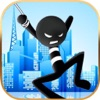 Fly With Rope Stickman Hero - iPhoneアプリ