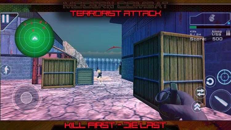Modern Combat Terrorist Attack screenshot-4