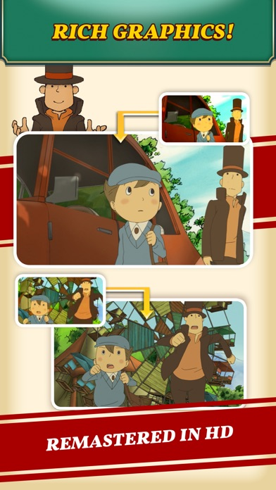 Screenshot for Layton: Curious Village in HD in New Zealand App Store