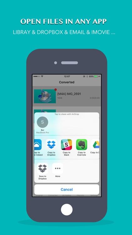 iConv: Video & Audio Converter screenshot-3