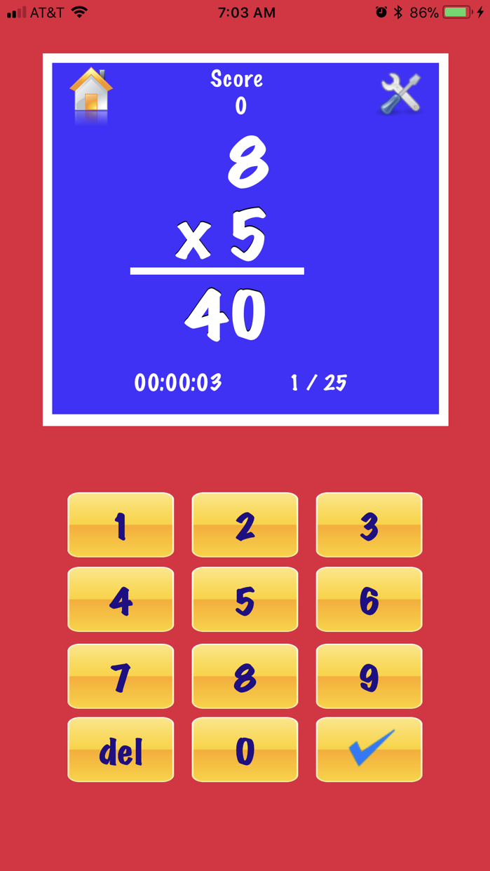 My Math Flash Cards App Screenshot