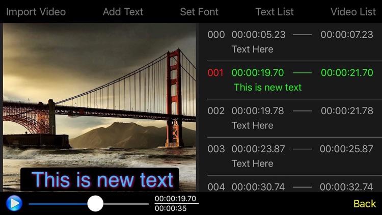 Video Subtitle Edit Pro - Video Text Editor screenshot-3