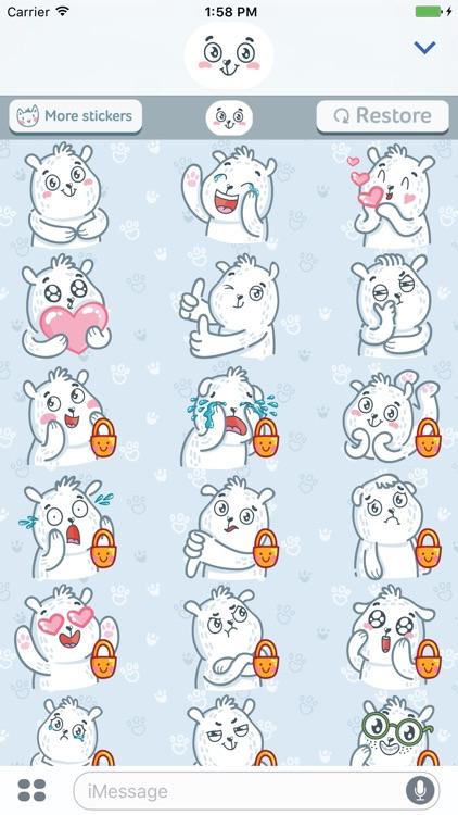 Polar Bear! Srickers for iMessage screenshot-3