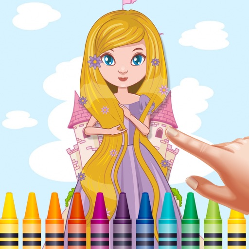 Paint Princess Coloring Book