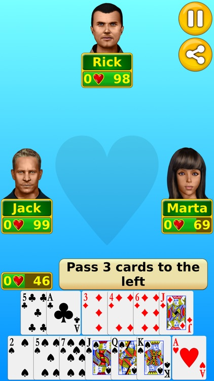 Hearts - Play online & offline screenshot-1