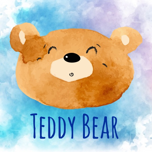 Cute Teddy Bear - Watercolor Emojis