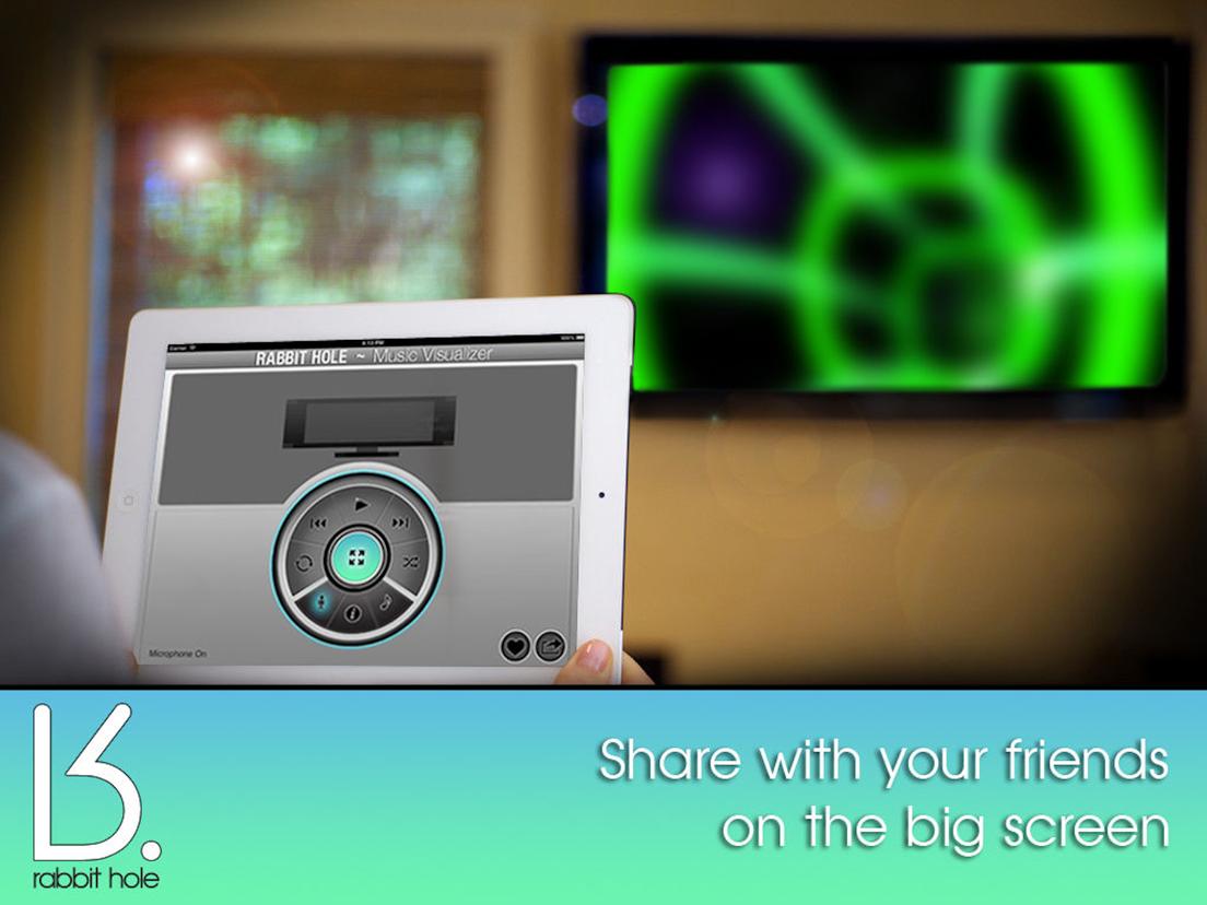 Music Visualizer ~ Rabbit Hole - App voor iPhone, iPad en