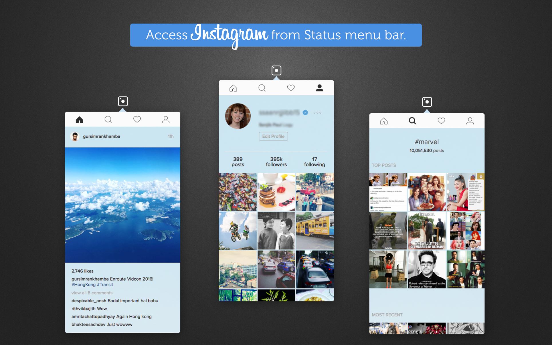 QuickTab for Instagram